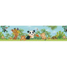 Jungle Free Style Border Wallpaper in Bright