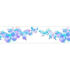 Fluttering Butterflies Free Style Wallpaper Border