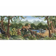 <strong>4 Walls</strong> Rainforest Mural Style Wallpaper Border