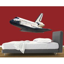 Space Shuttle In Flight  Wall Decal