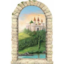 <strong>4 Walls</strong> Castle on a Hill Window Wall Decal