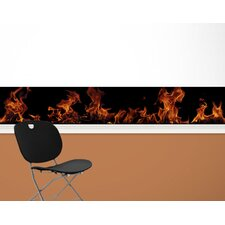 Fired Up Mural Style Wallpaper Border