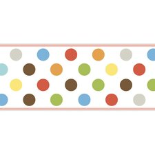 <strong>4 Walls</strong> Candy Polka Dot Wallpaper Border