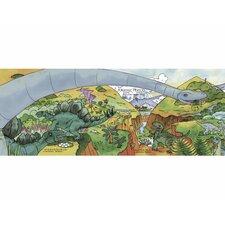 Dinosaur Timeline Mural Style Wallpaper Border