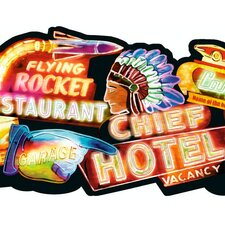 Lodge Décor Neon Signs Border