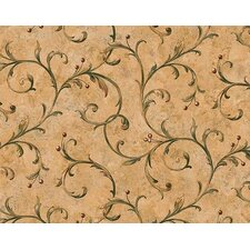 Lodge Décor Scroll Berry Trail Wallpaper