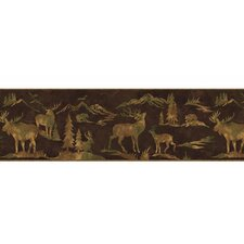 Lodge Décor Tin Silhouettes Border Wallpaper