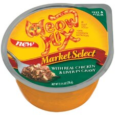 Market Select Real Chicken and Liver Wet Cat Food (Set of 24)