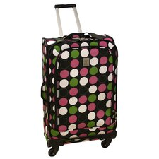 "24"" Multi Dots 360 Quattro Upright Spinner Suitcase"