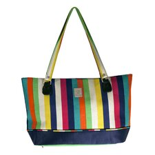 Multi Stripes Computer Tote Bag