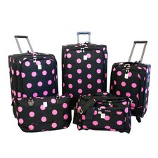 Dots 5 Piece Luggage Set