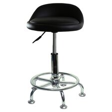 Height Adjustable Undersized Padded Stool with Low Profile and Casters (Set of 2)