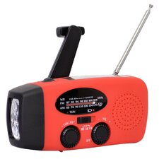 Sportsman Series Rechargeable Weather Radio with Hand Crank and Solar Power