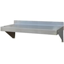 "AmeriHome 36"" Stainless Steel Wall Shelf"