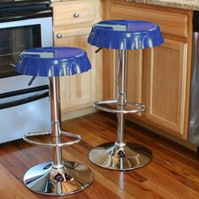 AmeriHome Retro Soda Cap Adjustable Height Bar Stool