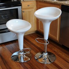 AmeriHome Modern Adjustable Height Swivel Bar Stool (Set of 2)