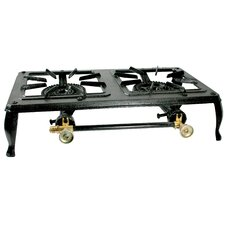 <strong>Buffalo Tools</strong> Double Burner Cast Iron Stove