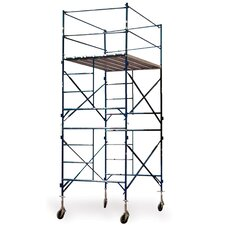 Pro Series 16.17' H x 7' W x 5' D  Two Story Tower Scaffold