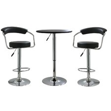 AmeriHome Steel Bar Stool Set