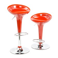 "30"" Adjustable Molded Bar Stool (Set of 2)"