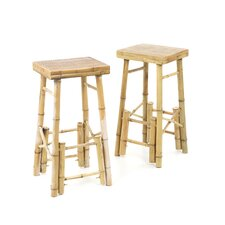 Bamboo Bar Stool (Set of 2)