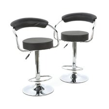 Foam Padded Barstool with Back