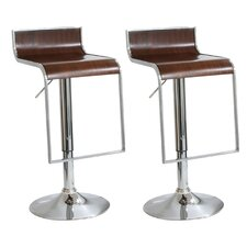 "AmeriHome 23"" Adjustable Swivel Bar Stool (Set of 2)"