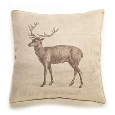 Lava Deer Etching Throw Pillow