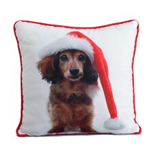 <strong>lava</strong> Holiday Daschund Pillow