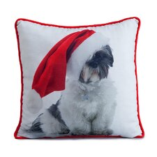 Holiday Shitzu Pillow