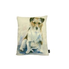 Lava Painted Jack Russel Pillow