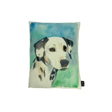 Lava Dalmation Watercolor Feather Filled Pillow