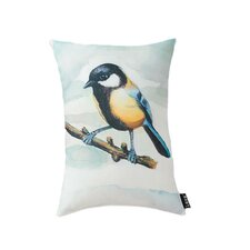 Lava Bird Watercolor Pillow