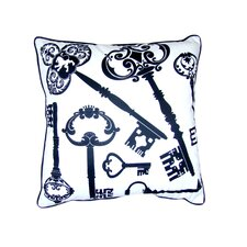 Keys Feather Filled Pillow