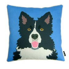 <strong>lava</strong> Border Collie Polyester Pillow