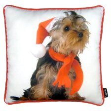 Holiday Yorkie Pillow