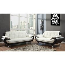 Digo 2 Piece Leather Sofa Set