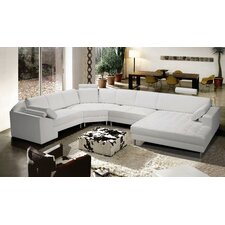 Vacaville Leather Sectional