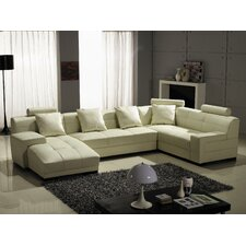 <strong>Hokku Designs</strong> Houston Left Leather Sectional