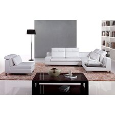 <strong>Hokku Designs</strong> Leather Sectional Set