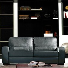 <strong>Hokku Designs</strong> Cardiff Leather Sofa