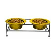 o8dern Double Diner with 2 Wide Rimmed Bowls