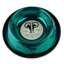 Embossed Dog Bowl in Teal