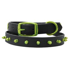 Genuine Leather Cat / Puppy Collar with Spikes