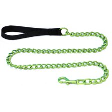 Steel Dog Leash with Black Nylon Handle