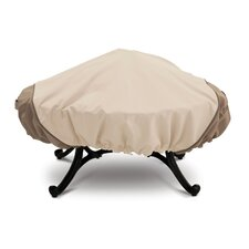 Veranda Collection Large Round Fire Pit Cover in Pebble