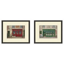 Vintage Grand Cafe Framed Art (Set of 2)