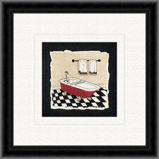 Old Fashioned Tub A Framed Painting Print