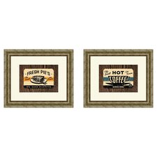 Vintage Hot Coffee Framed Art (Set of 2)