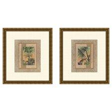 Coastal Beyond Palms 2 Piece Framed Graphic Art Set
